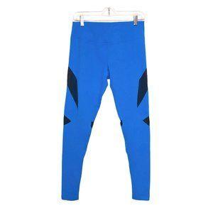Zella Blue Leggings | Black Mesh Paneling Medium